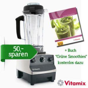 """Vitamix TNC 5200 edelstahloptik + Buch """"Grüne Smoothies"""" kostenlos dazu"""